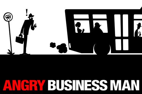 logo Wütender Geschäftsmann