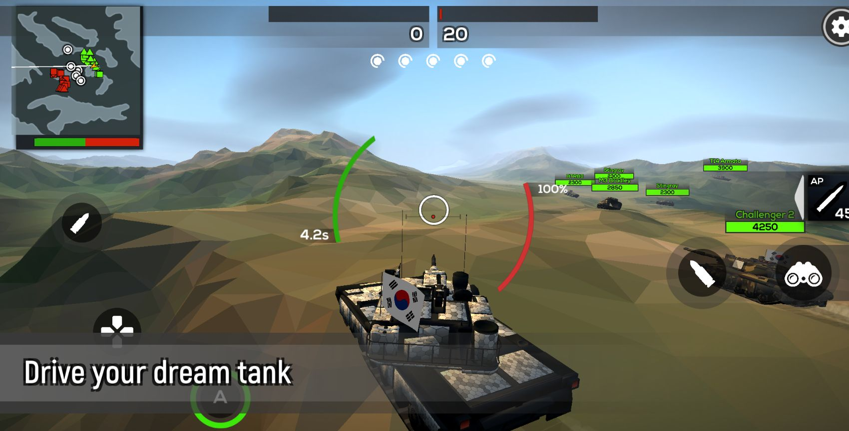 Poly Tank 2: Battle Sandbox captura de pantalla 1