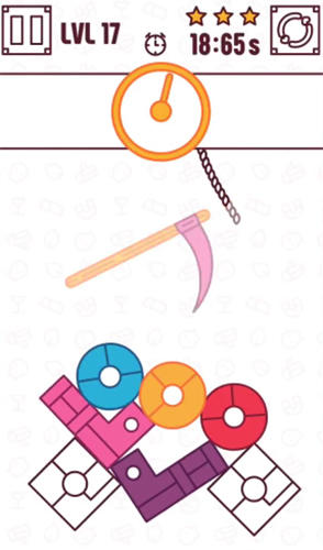 Puzzle Find the balance: Physical funny objects puzzle in English