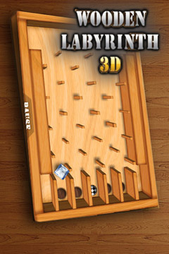 логотип Деревянный лабиринт 3Д