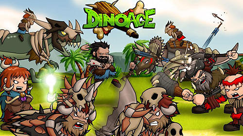 Dinoage: Prehistoric caveman and dinosaur strategy! screenshot 1