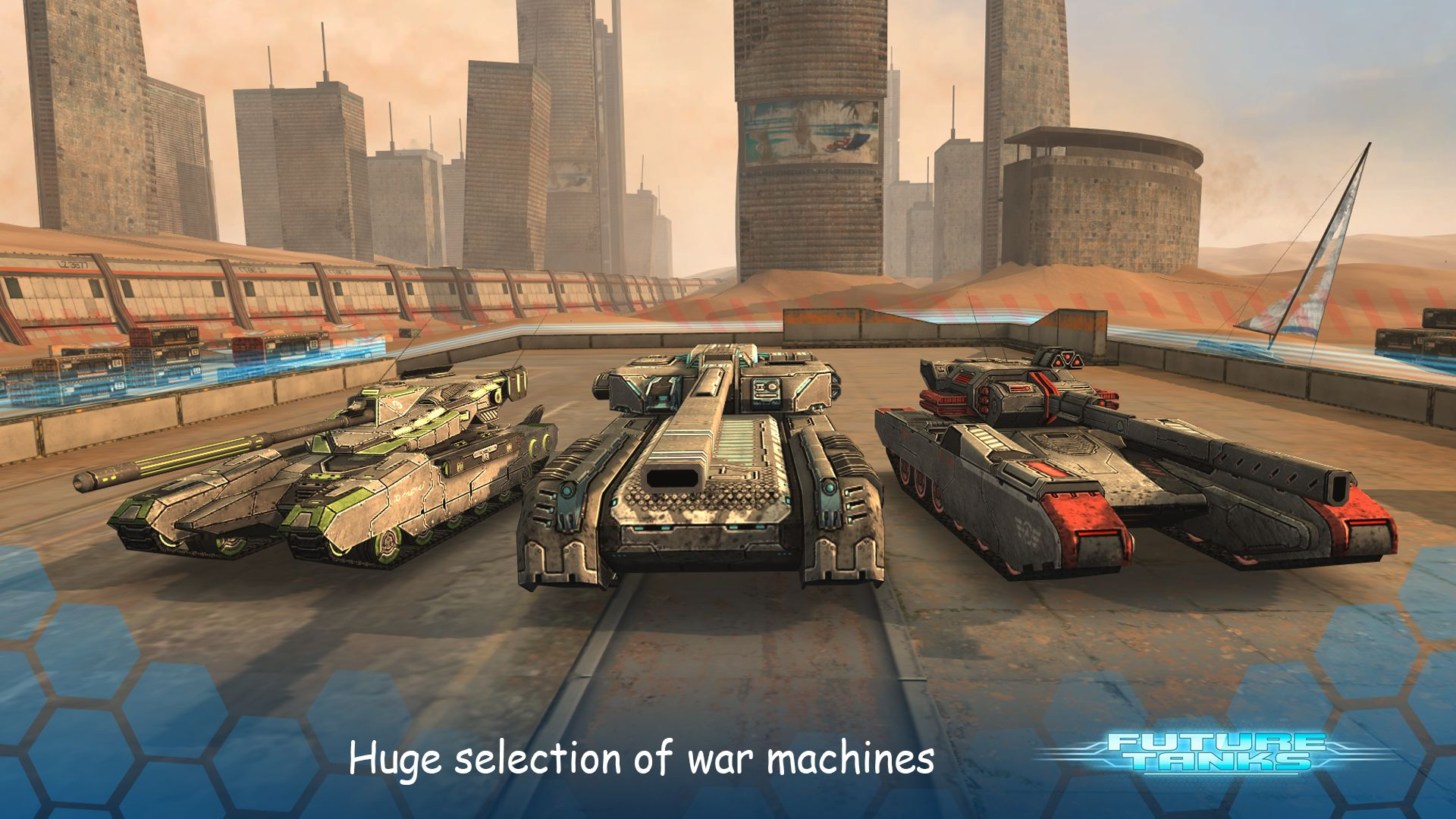 Future Tanks: Action Army Tank Games скріншот 1