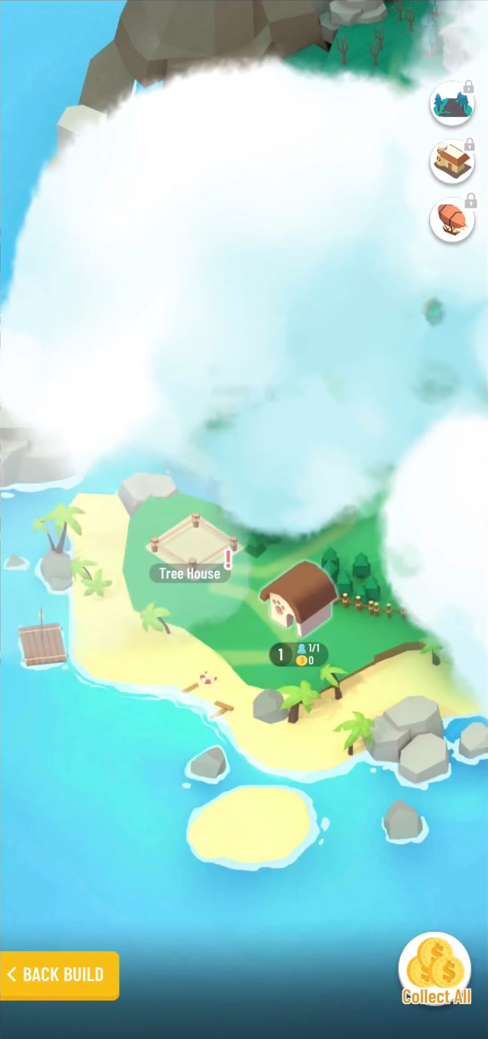 Idle Island: Build and Survive скриншот 1