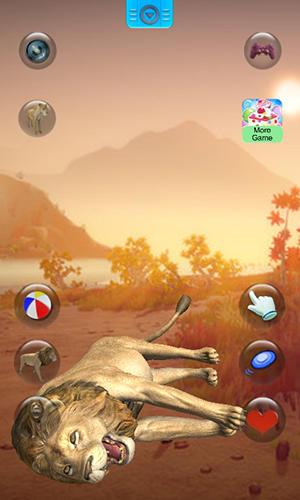Simulator-Spiele Talking lion für das Smartphone
