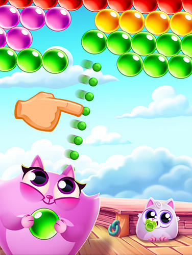 Blasen-Spiele Cookie cats pop auf Deutsch