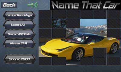 Quiz-Spiele Name That Car auf Deutsch
