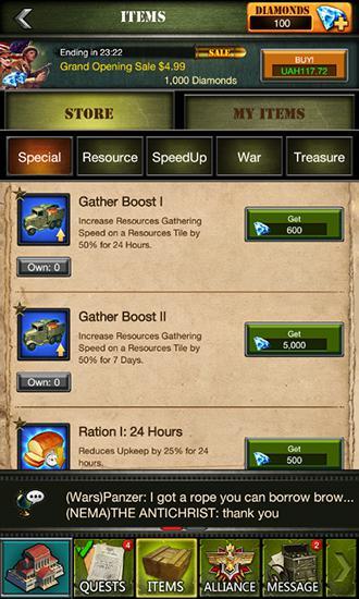Clash of commanders: Iron tides screenshot 1