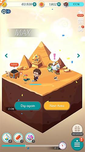 Arcade-Spiele Dig land für das Smartphone