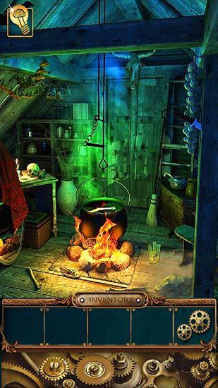 Abenteuer-Spiele Ghost house escape für das Smartphone