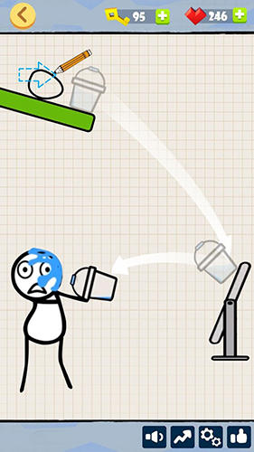 Arcade Bad luck stickman: Addictive draw line casual game for smartphone