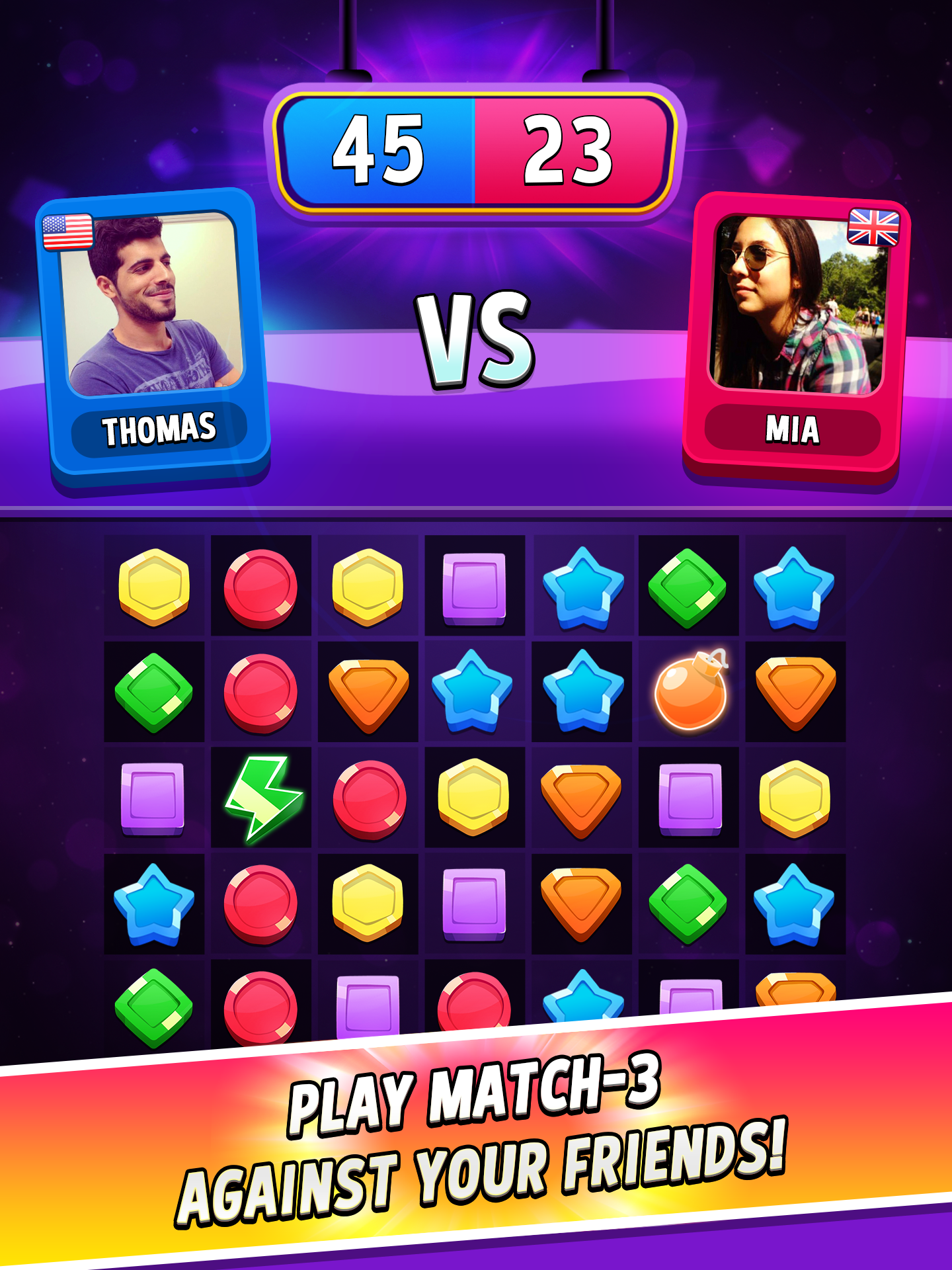 Match Masters - PVP Match 3 Puzzle Game pour Android