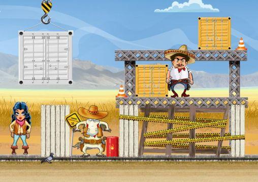 Cowboy Angry gunmans auf Deutsch