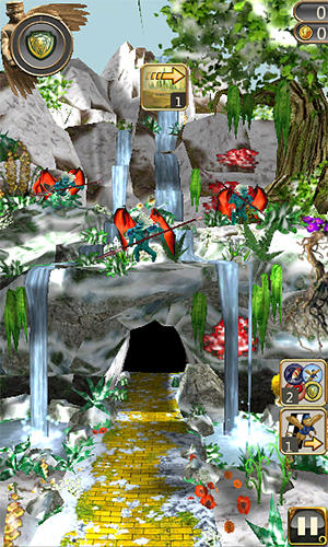 Snow temple run screenshot 1