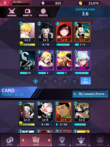 RWBY: Amity arena for Android