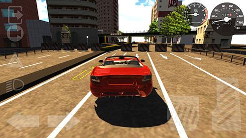 Simulation Extreme car driving simulator für das Smartphone