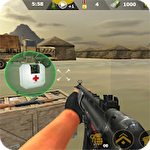 Commando sniper attack: Modern gun shooting war Symbol