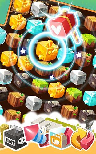 Logikspiele Mine crush: Mine Vill friends für das Smartphone