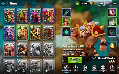 MMORPG Giants war in English