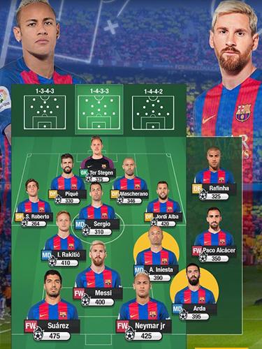 Onlinespiele FC Barcelona fantasy manager 2017 für das Smartphone