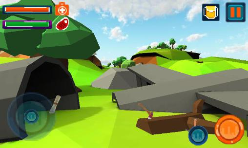 Action Survival island: Craft 3D für das Smartphone
