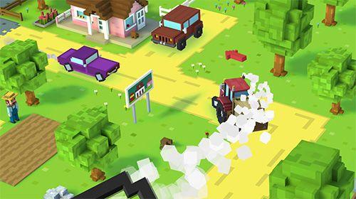 Captura de tela Fazenda de blocos no iPhone