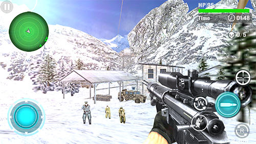 Action Mountain sniper shooting für das Smartphone