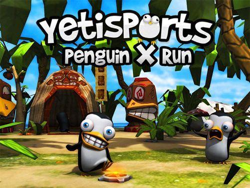 логотип Йети спорт: Бег пингвина