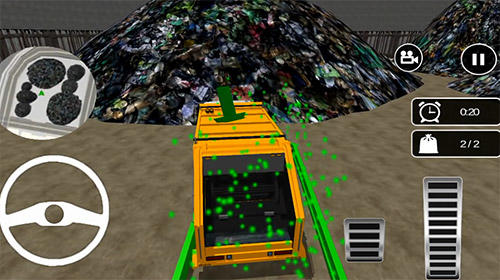 Garbage truck: Trash cleaner driving game скриншот 1