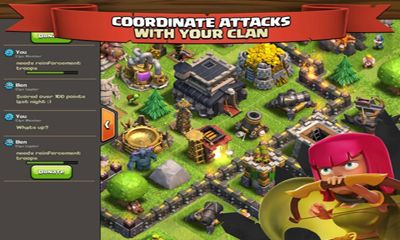 Online games Clash of clans for smartphone