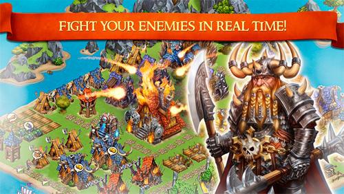 Online Dragons and vikings: Empire clash für das Smartphone