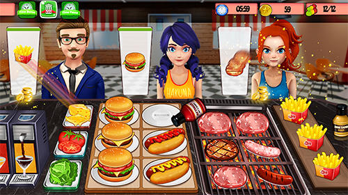 High school happy restaurant: Cooking games pour Android