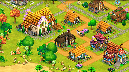 Economic strategy games Town village: Farm, build, trade, harvest city in English