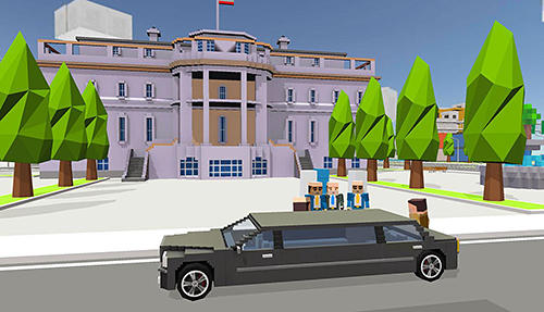 Mr. Blocky White House driver for Android
