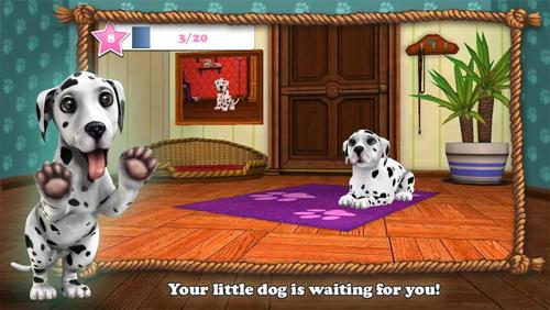 Simulator-Spiele Christmas with dog world für das Smartphone