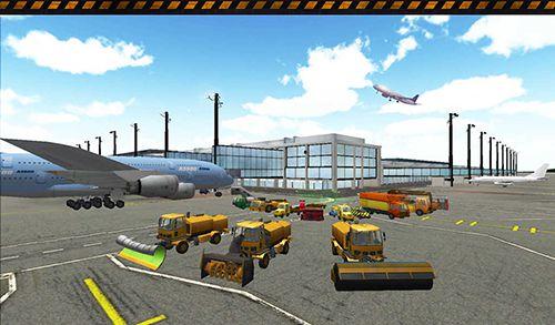 Screenshot Flughafen Simulator 2 auf dem iPhone