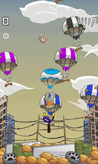 Schießstand-Spiele Zombie parachute auf Deutsch