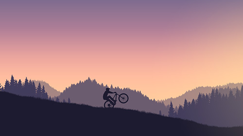 Гонки: скачать Mountain bike xtremeна телефон