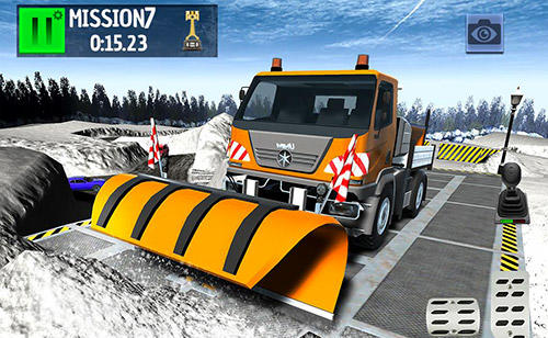 Winter ski park: Snow driver screenshot 1