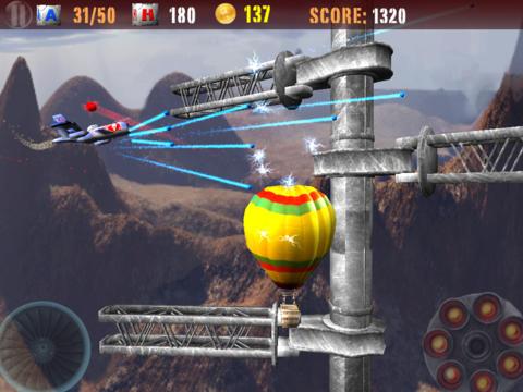Captura de pantalla La guerra de aviones en iPhone