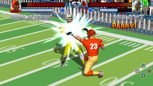American football games Football rugby players fight in English