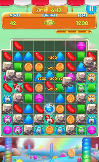 Arcade-Spiele Candy heroes mania deluxe für das Smartphone
