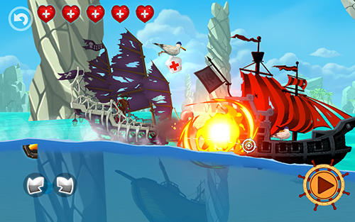 Arcade Pirate ship shooting race für das Smartphone