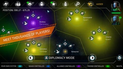 Galaxie im Feuer - Allianzen für iPhone