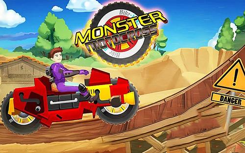Monster bike motocross icon
