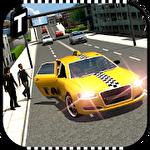 Modern taxi driving 3D ícone