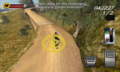 Rennspiele Motorcycle hill climb sim 3D für das Smartphone
