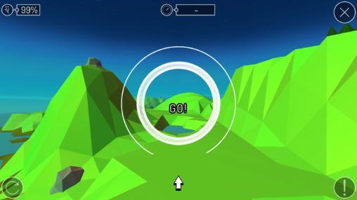Arcade-Spiele Pioneer skies: 3D racer für das Smartphone