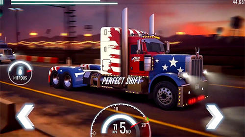 Big truck drag racing für Android