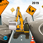 Excavator digging: Road construction simulator 3D icono