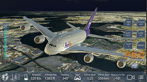 Simulation Pro flight simulator NY für das Smartphone